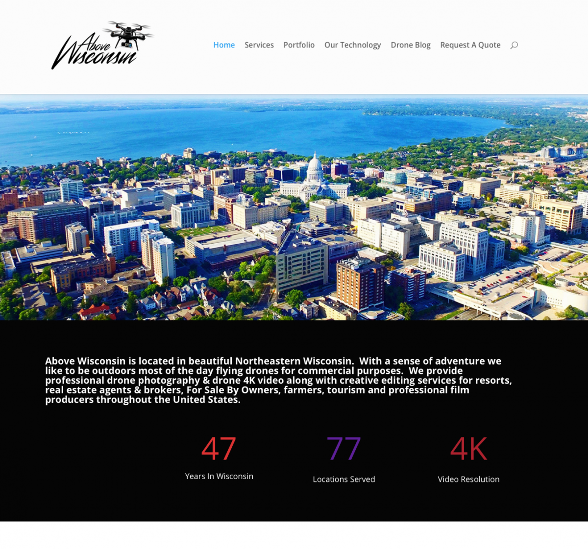 2467a7edf9e Above Wisconsin ~ Commercial Drone Photographers - Fox Valley Web ...