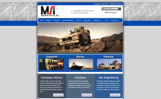 Machine Service, Inc., Wisconsin Made Website ~ Wisconsin website developers,Green Bay, Wisconsin, website designers,developers,seo,social media experts,hosting