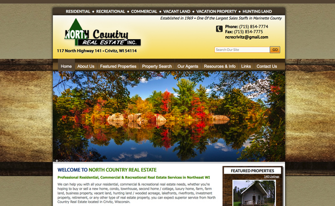 North Country Real Estate, Crivitz Wisconsin, website developers in Wisconsin,graphic designers,Wisconsin photographers,Marinette County website designers,drone photographers in WI