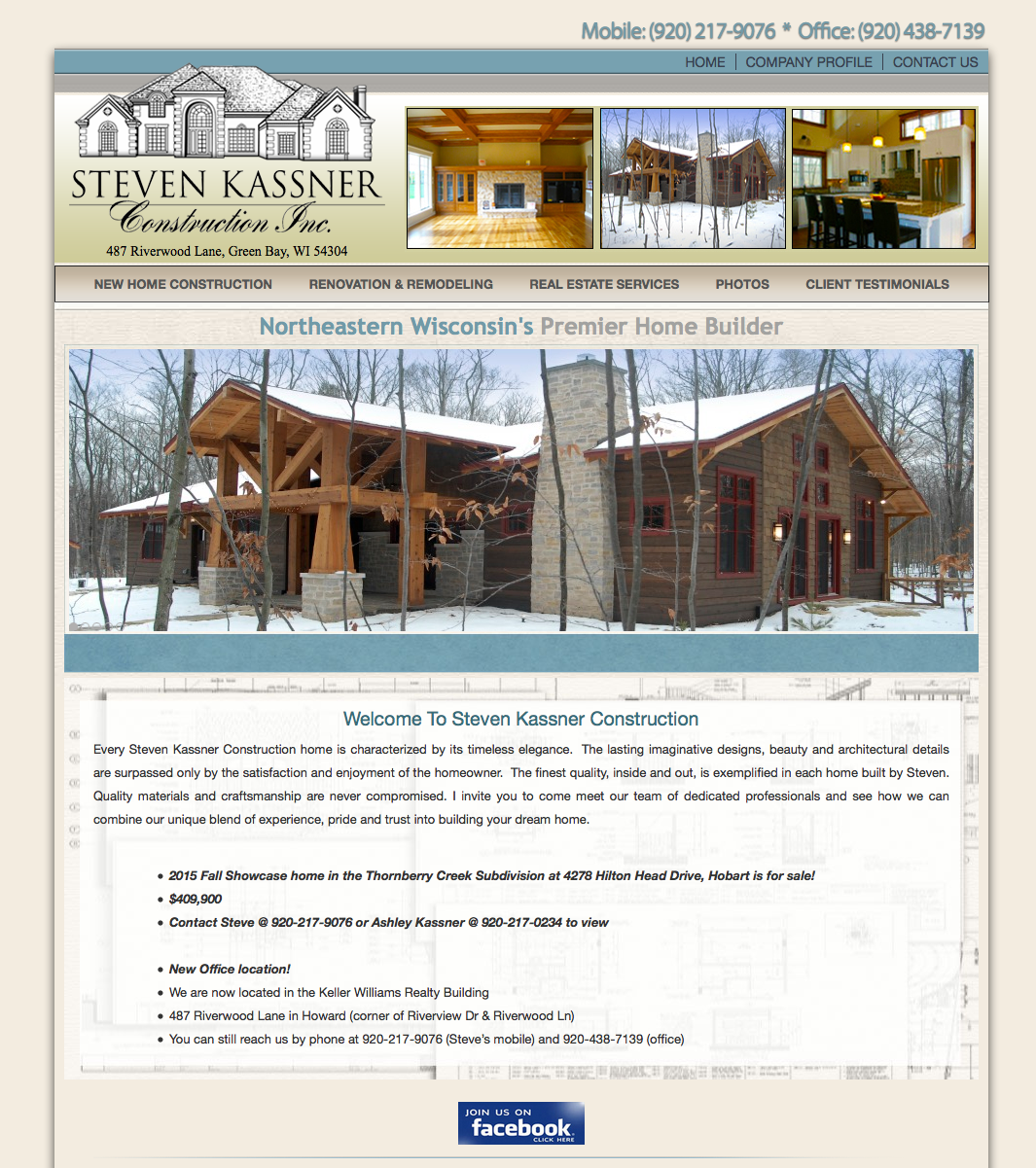 steven kassner construction inc brown oconto u0026 door county