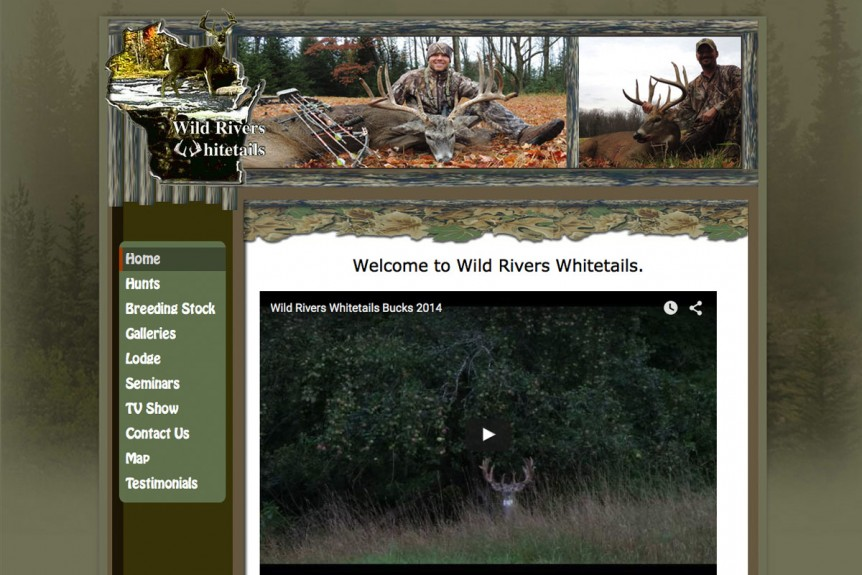 Wild Rivers Whitetails,wisconsin website designers,outdoor websites,hunting lodges in Wisconsin,whitetail deer breeders,wiconsin game farms,wisconsin website developers,video production,videos for youtube,video editing,wi video professionals,drone 4k video producers,seo,affordable hosting providers in Green Bay Wisconsin,eagle river, door county wi