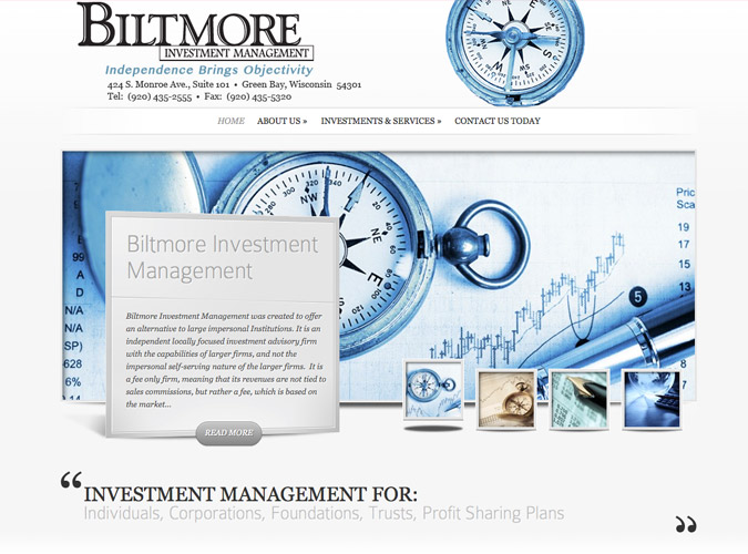 Biltmore Investment ManagementWisconsin Made Websites,Wisconsin website developers, Wisconsin WordPress Developers, Green Bay Portfolio Management, green bay Tax help,green bay Banking,investment websites,Appleton web design,Door County web design.