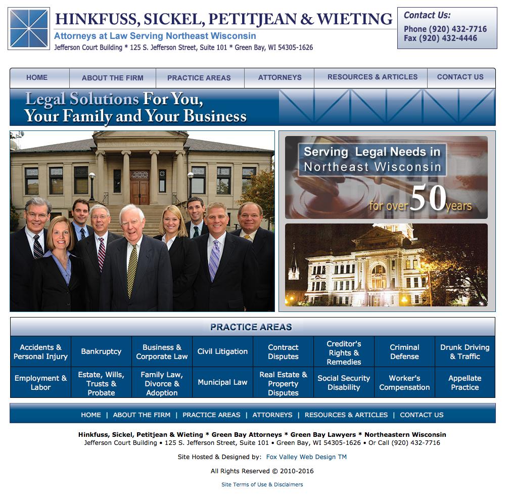 Law Firms in Wisconsin,Hinkfuss, Sickel, Petitjean & Wieting, Green Bay Attorneys, Green Bay Lawyers, Northeastern Wisconsin Attorneys