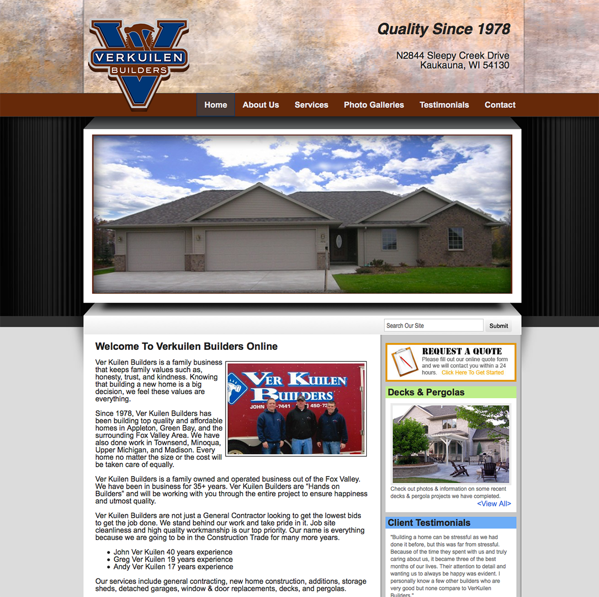 Ver kuilen builders wisconsin home builders fox valley for Home builders wisconsin