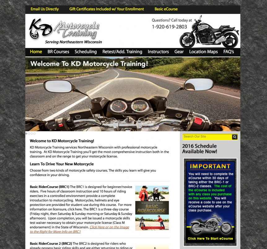 KD Motorcycle Training, Basic RiderCourse,BRC1,Basic RiderCourse 2,BRC2,professional motorcycle training,beginner motorcycle training,motorcycle instructors,instruction,get a Wisconsin motorcycle license,professional website design,green bay website designers,green bay graphic designers,oshkosh web development,door county web developers,seo