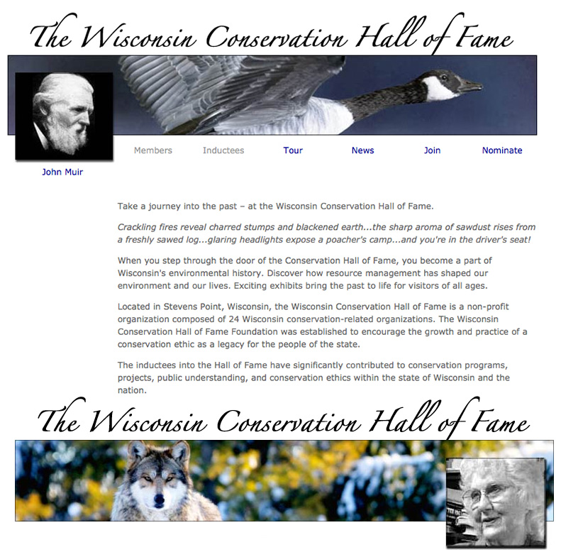 Wisconsin Conservation Hall of Fame,wchf.org,John Muir,Lorrie Otto,