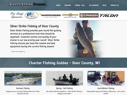Fox valley web design llc american website designers for Door county fishing charters