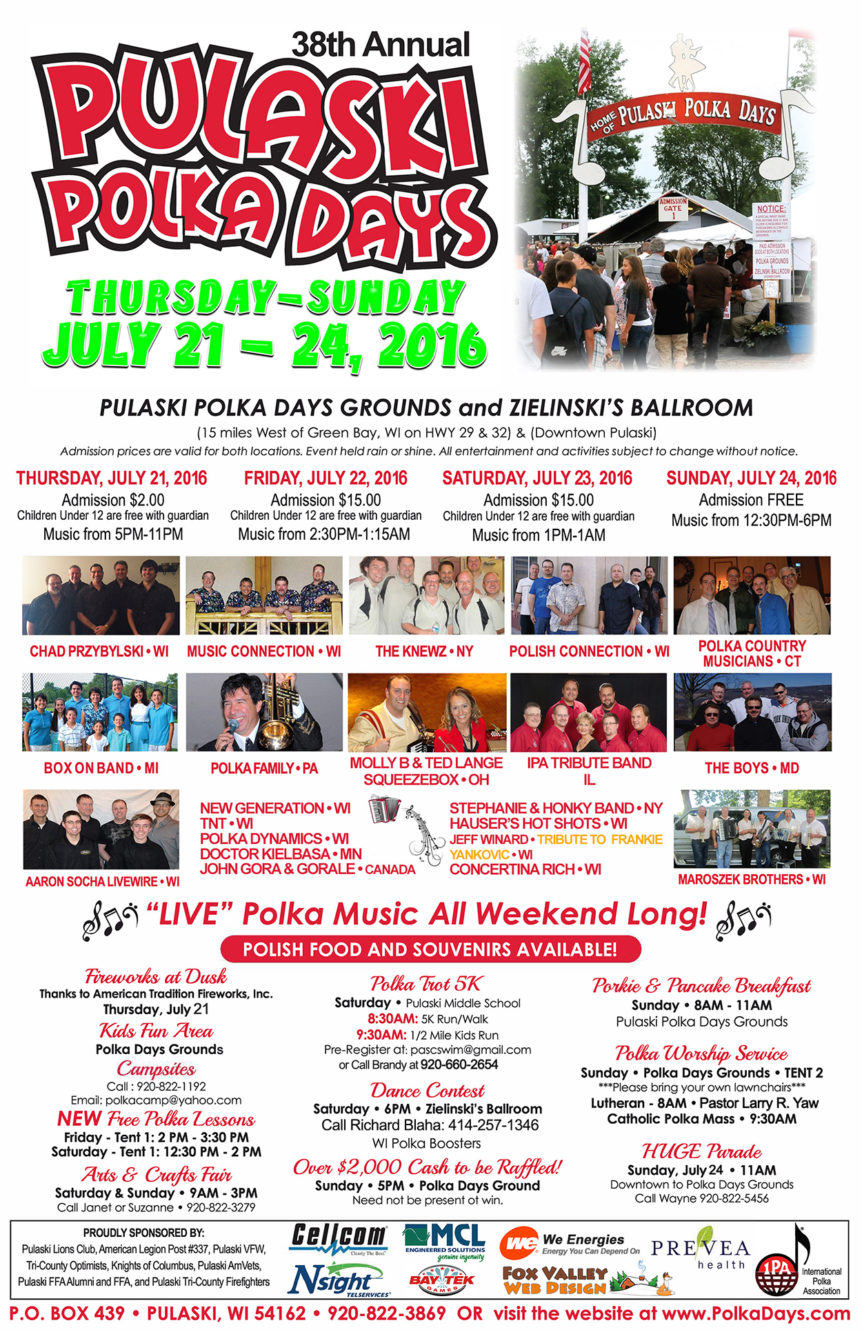 pulaski polka days,poster,wi graphic designers,fvwd,fox valley web design, wi seo, search engine optimization