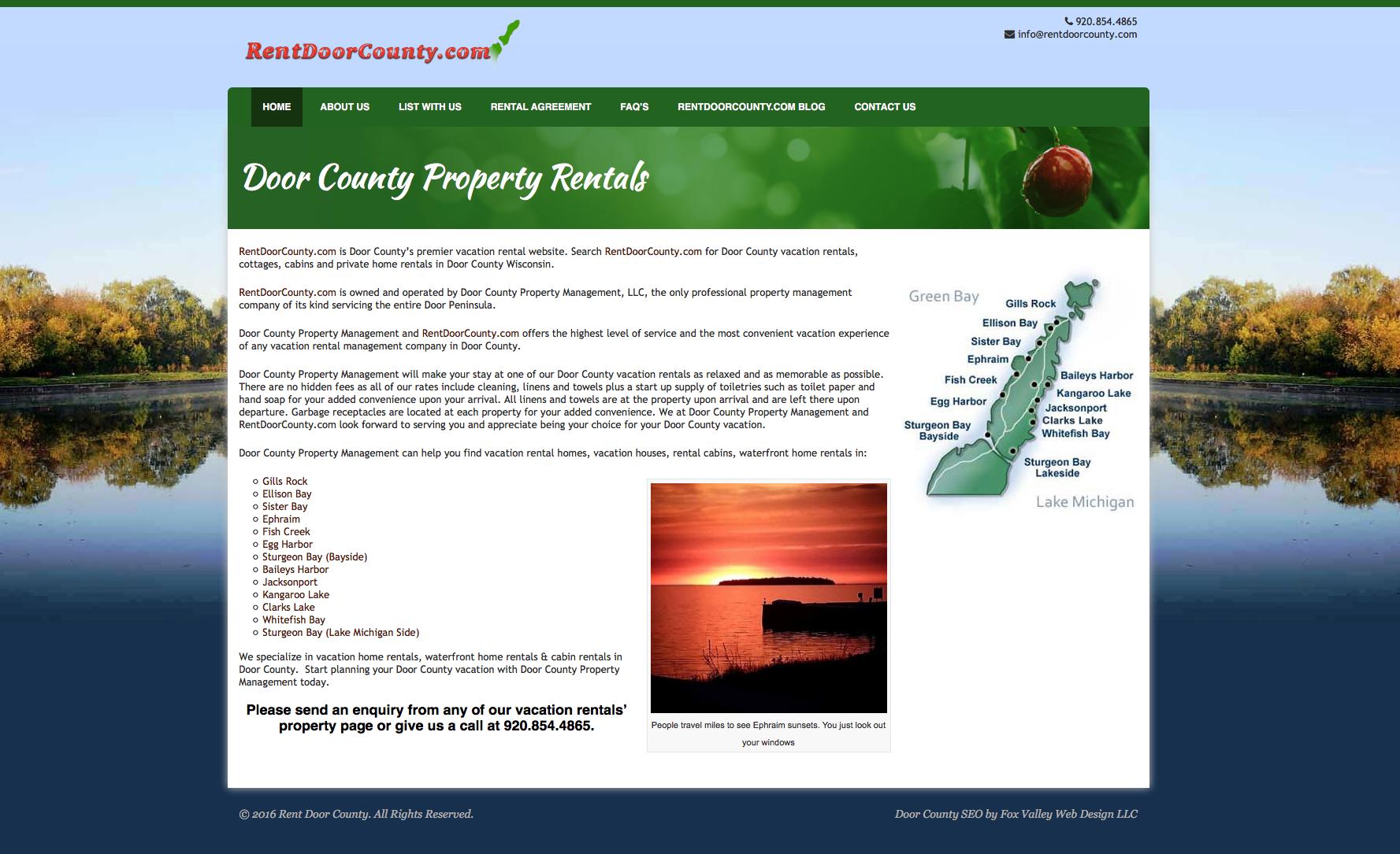 Door County Property Management LLC ~ Sister Bay Wisconsin - Fox Valley Web Design LLC  sc 1 st  Fox Valley Web Design LLC & Door County Property Management LLC ~ Sister Bay Wisconsin - Fox ... pezcame.com