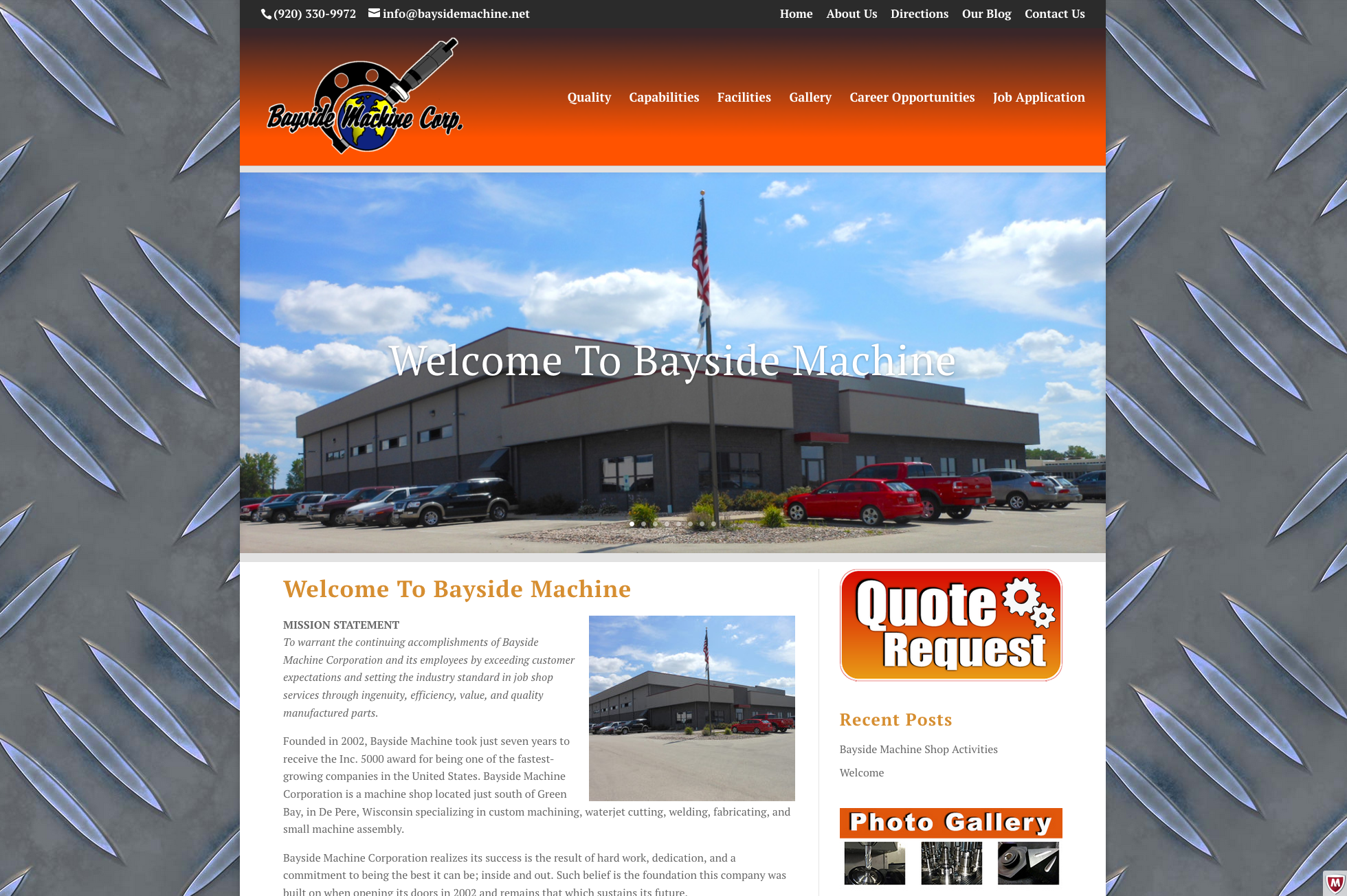 Bayside machine wisconsin fox valley web design llc for Motor machine shop near me