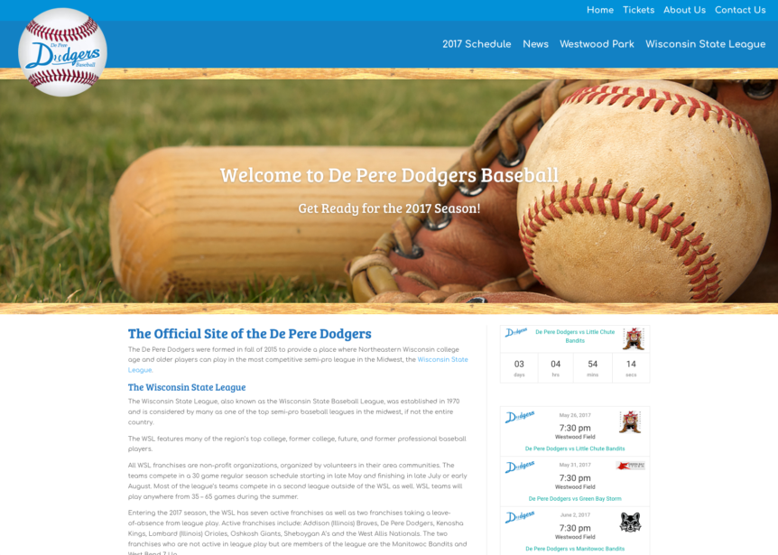 de pere dodgers,base ball,semi pro baseball teams,wisconsin semi pro baseball,website design & development,wi photographers