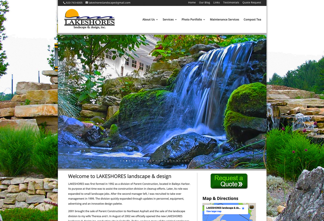 Fox valley web design llc american website designers for Landscape design inc