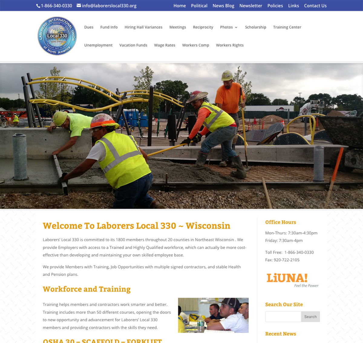 Laborers' Local 330, Wisconsin,Website Design,SEO,Commercial Drone Pilots,LUNA,Unions in Wisconsin