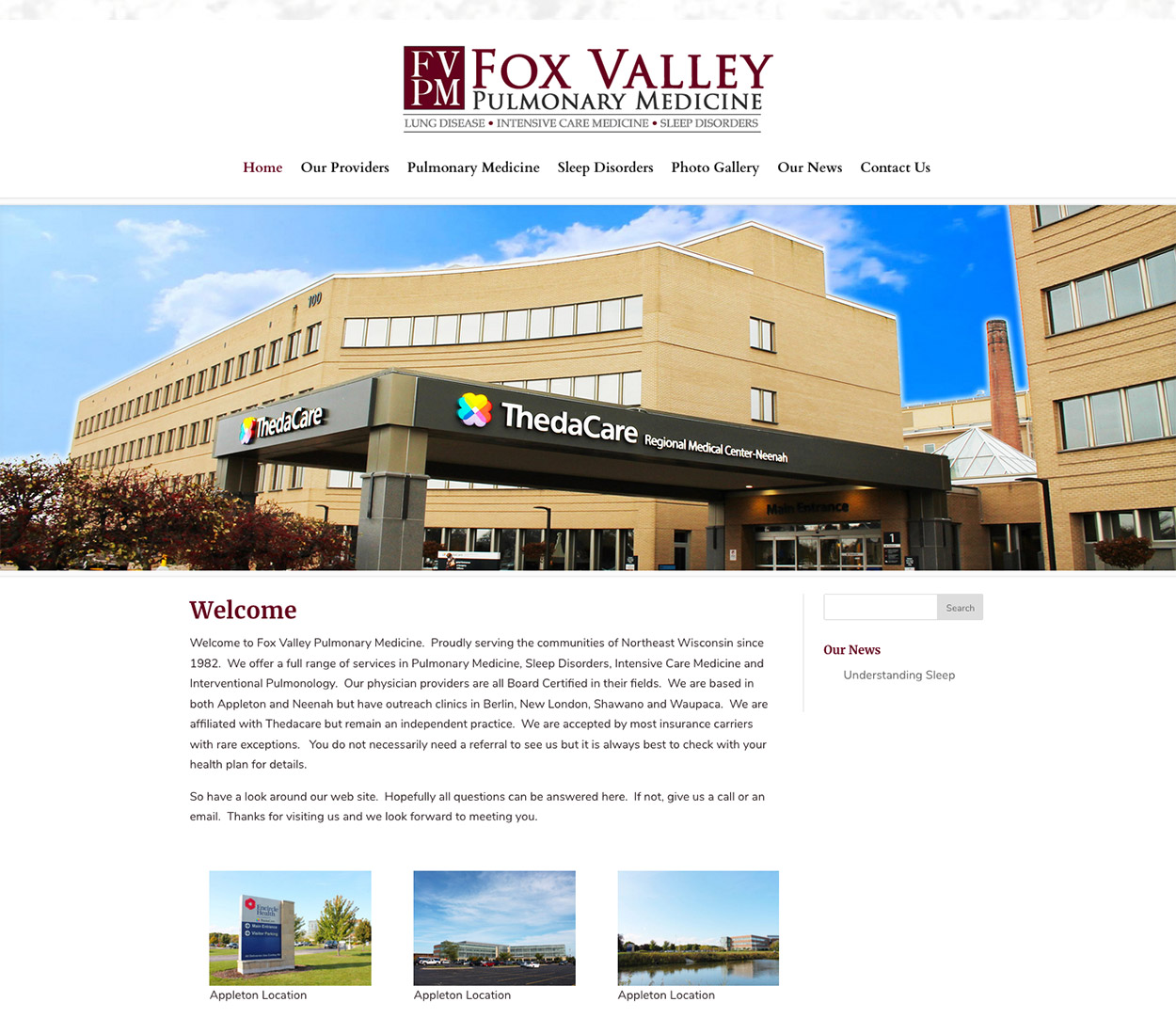 Medical website design,hospital website design,wisconsin website designers,american website designers,fvwd,Fox Valley  WI Doctors, Fox Valley Pulmonary Medicine,ThedaCare, Pulmonary Medicine, Sleep Disorders, Intensive Care Medicine,Interventional Pulmonology, Appleton,Neenah, Berlin, New London, Shawano,Waupaca