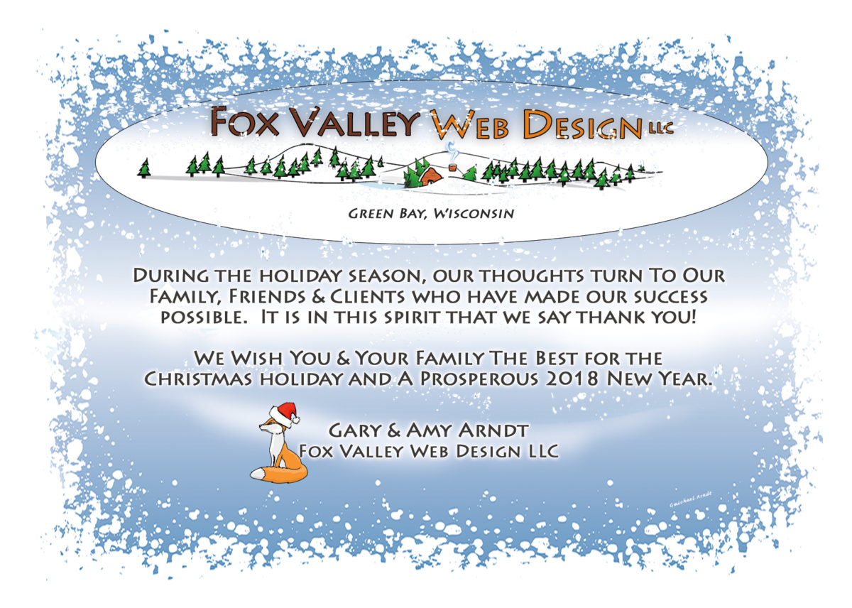 Fox Valley Web Design,Wisconsin website designers,graphic designer,happy holidays,happy new year,fvwd