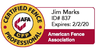 american fence association,valley custom fence,jim marks,professional fence company,fencing companies in Wisconsin,Fox Valley Custom Fencing,northeastern wi fence company