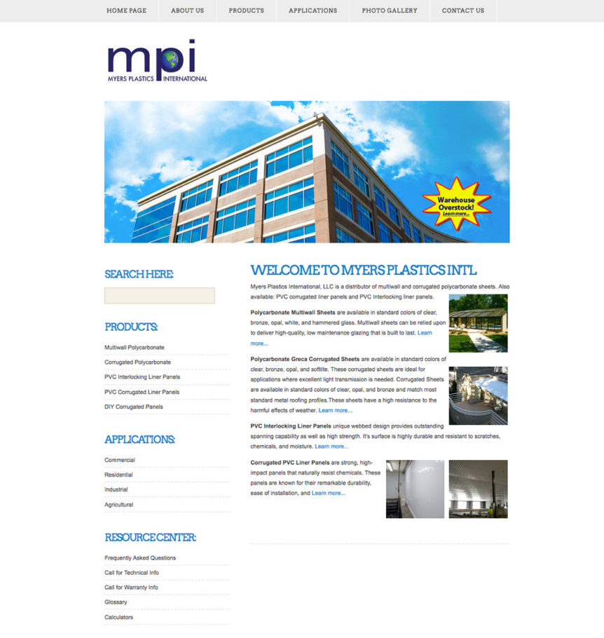 Myers Plastics International, LLC,florida,manufacturing,manufacturing website design,florida website design,Polycarbonate Multiwall Sheets,Polycarbonate Greca Corrugated Sheets,PVC Interlocking Liner Panels