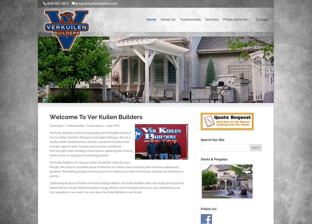 Ver Kuilen Builders,fox valley home builders,fox valley web design,fvwd,real estate for sale in the new wisconsin,green bay graphic design, door county website designers