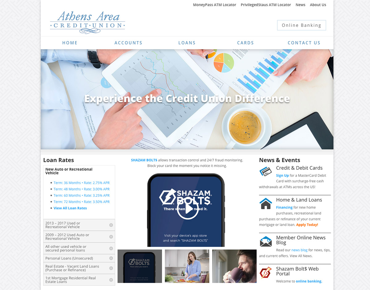 Athens Area Credit Union, Athens, WI Website Designers, Web Development, FVWD, Fox Valley Web Design, Wisconsin Credit Union, Bank