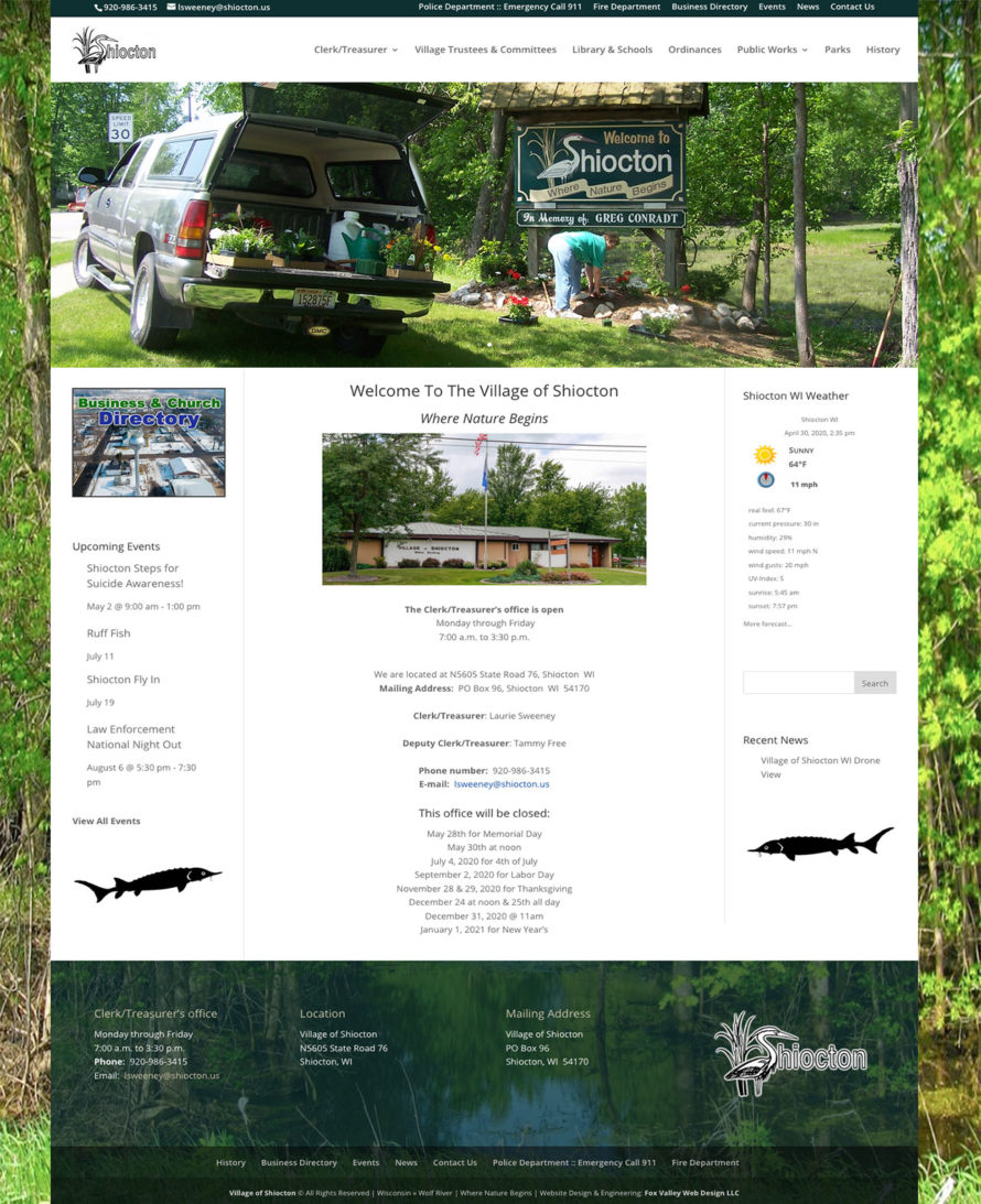 village of shiocton,wisconsin,government website designers,municipality website design & development,fox valley web design, fvwd,government website development,village websites,town website design,city website design,wisconsin website designers
