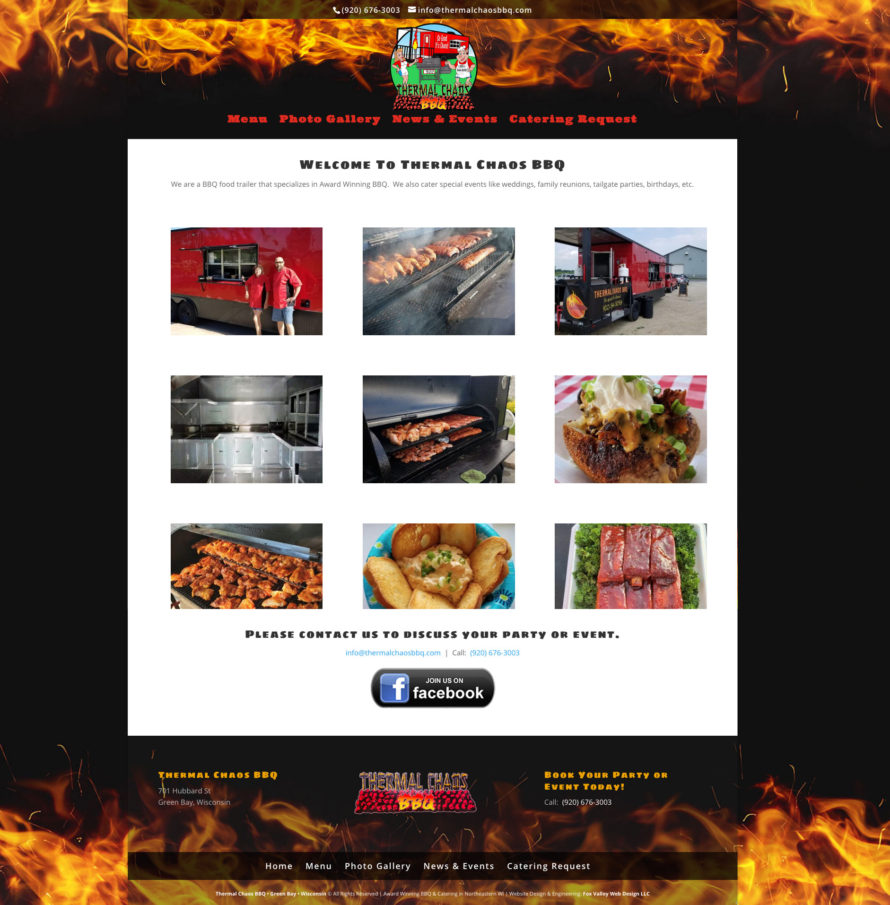 thermal chaos bbq,titletown web design,titletown website development,fox valley web design, american website designers,wisconsin web design, green bay website design,green bay graphic design,catering,northeastern wisconsin