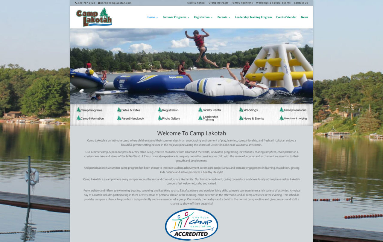 camp lakotah,wautoma, wisconsin,fox valley web design,green bay web design,packerland website design,packerland web designers,best packerland web designer,wisconsin website design,american web developers