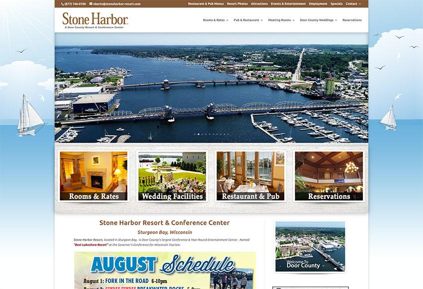 Stone Harbor Resort & Conference Center, Sturgeon Bay Wisconsin, Door County Website Designers,Wisconsin Made Websites,Wisconsin website developers, Wisconsin WordPress Developers,Sturgeon Bay web design,Egg Harbor,Fish Creek,Washington Island, WI, web developers in Door County
