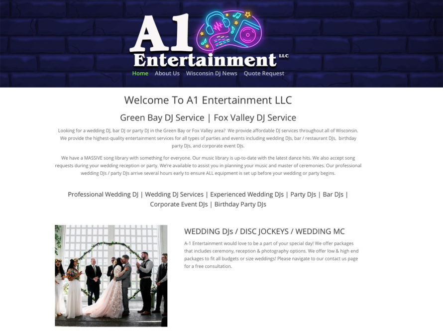 a1 entertainment llc,green bay wedding dj,djs,dj services,party dj,bar djs,affordable wedding djs,wisconsin djs,green bay dj service,fox valley dj service,best dj near me,best wedding dj near me,door county djs,corporate event djs