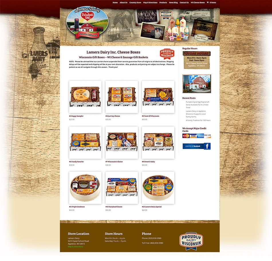 Wisconsin website designers, Lamers Dairy Inc • Dairyland's Best, Appleton, Wisconsin, Fox Valley
