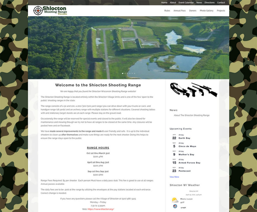 shiocton wisconsin shooting range, shiocton wisconsin, logos by fvwd,fox valley shooting range, gun ranges in northeastern wisconsin, fvwd, website developers