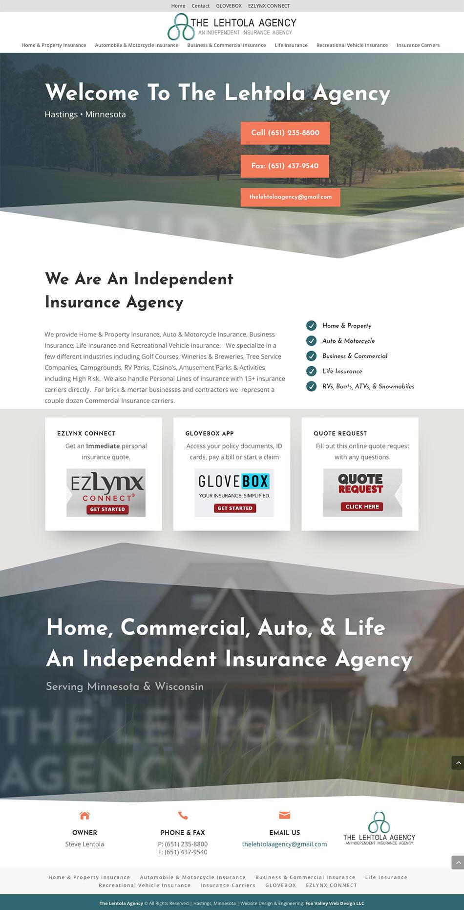 The Lehtola Agency, Home Insurance, Commercial Insurance, Auto Insurance, Life Insurance, Independent Insurance Agency, Get a online insurance quote